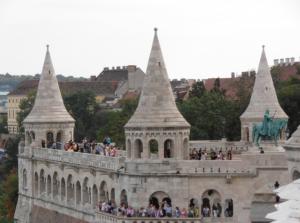 Budapest Fishermans Bastion Levels Free Lower Balcony Fee Paying Upper Towers Janos Szucs