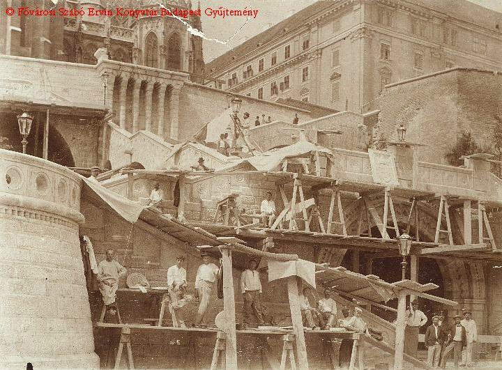 Building Fisherman Bastion Budapest Jesuit Monastery